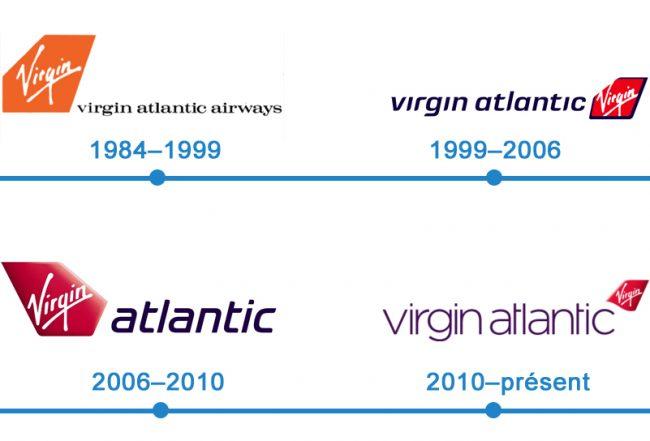 histoire logo Virgin Atlantic Airways