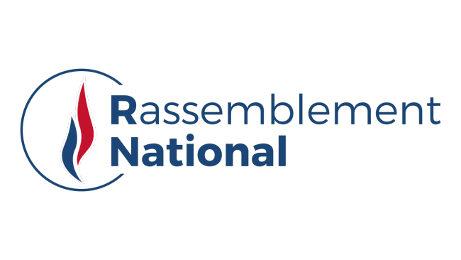 Le Rassemblement national (RN) logo tumb