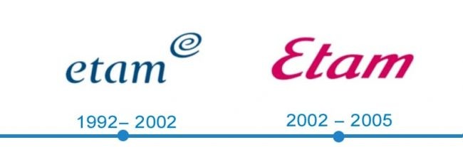 histoire logo Etam