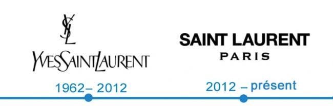 histoire logo Yves Saint Laurent