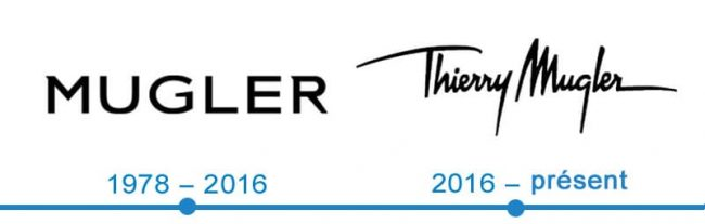 histoire logo Thierry Mugler