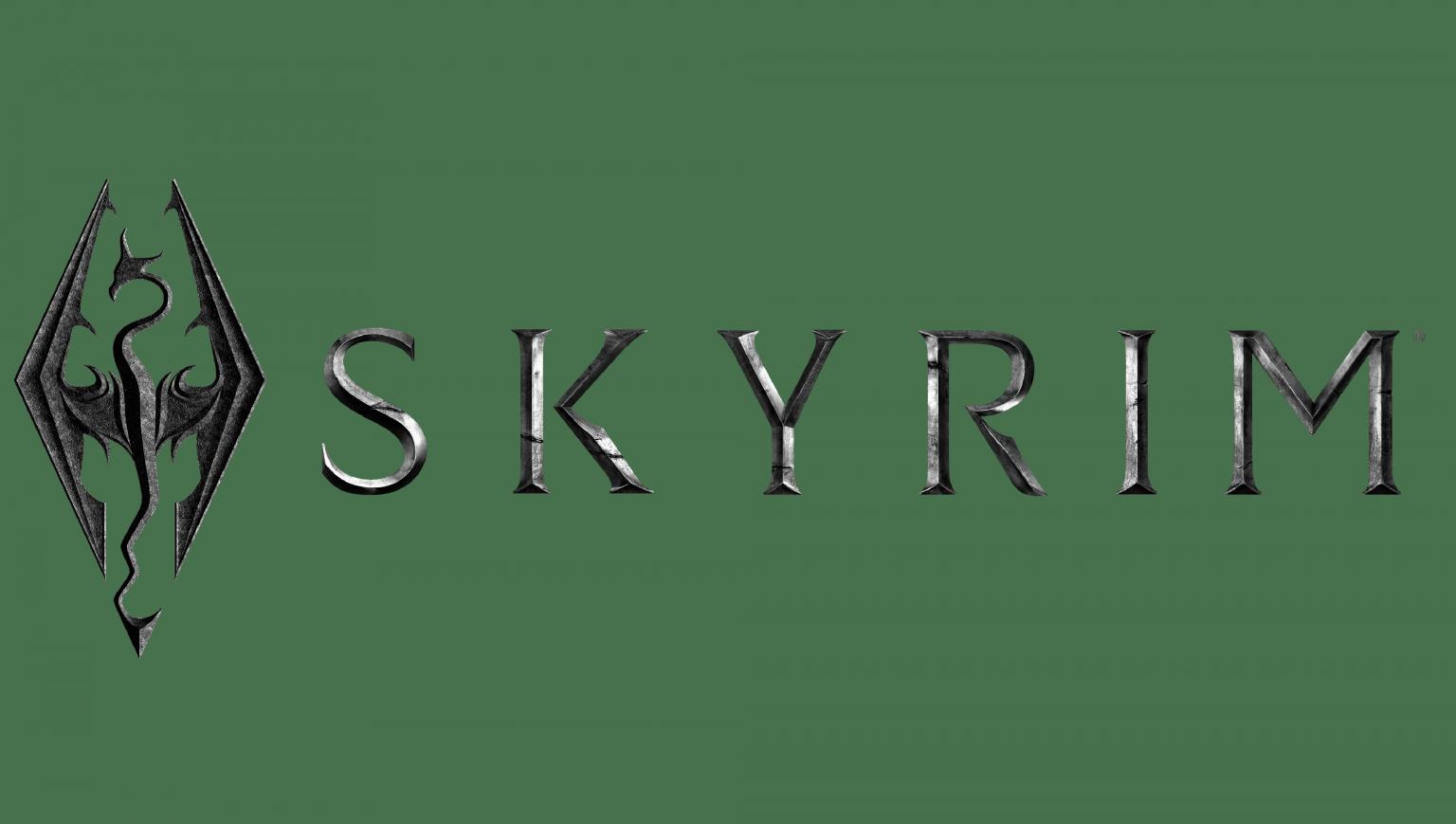 Skyrim Logo - Marques et logos: histoire et signification ...