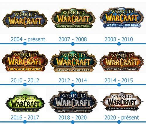 World of Warcraft Logo histoire